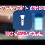[iOS11]iPadにも搭載されたフラッシュライト(懐中電灯)の明るさを調整する方法