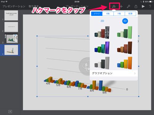 グラフの種類を変更する方法
